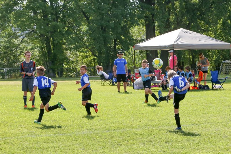 Plus de 850 joueurs de soccer seront en action le 25 août lors du tournoi de la Ligue de soccer des Patriotes, à Contrecœur. (Photo: archives/Pascal Cournoyer)