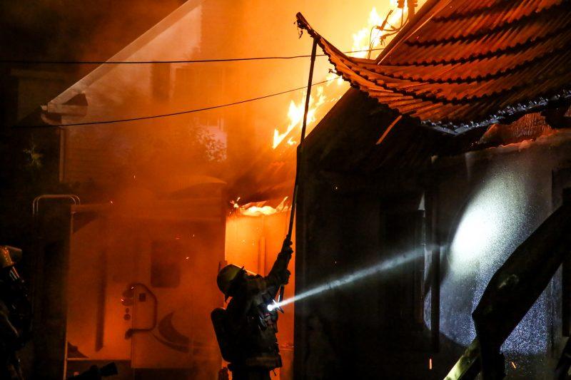 Un incendie a ravagé une résidence de la rue Privée à Sainte-Anne-de-Sorel. (Photo: Pascal Cournoyer)