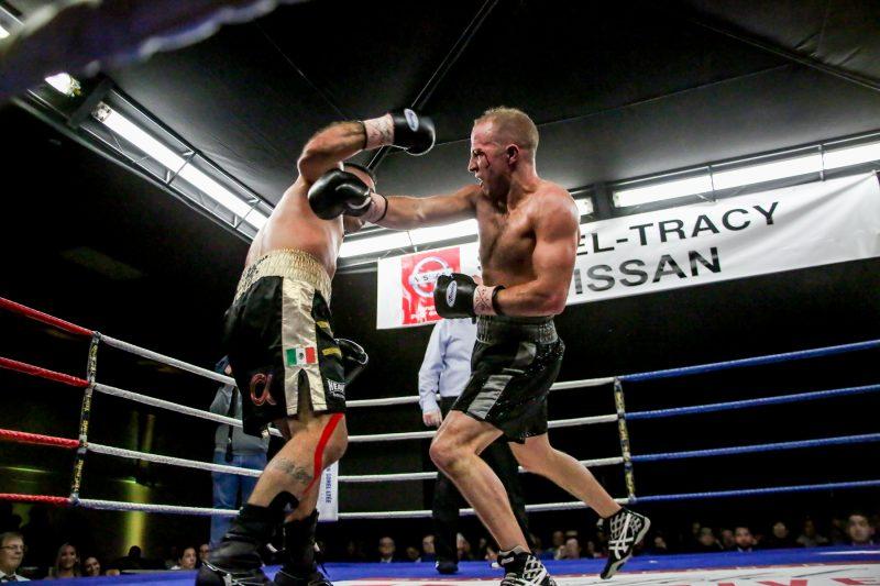 David Théroux est bel et bien de retour, lui qui a signé un retentissant KO au huitième round. (Photo: Pascal Cournoyer)