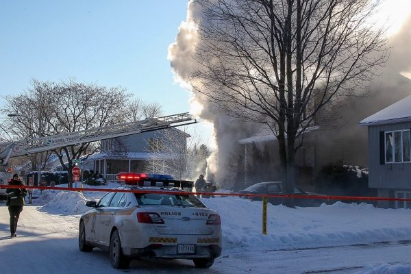 Violent incendie sur la rue des Jonquilles à Sorel-Tracy