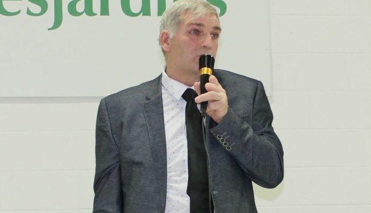 Le maire de Sainte-Victoire-de-Sorel Michel Aucoin s'est adressé aux propriétaires de terres agricoles et boisées lors de la réunion du 7 janvier  Photo Katy Desrosiers | Les 2 Rives ©