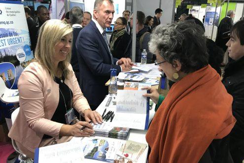 La mairesse Maud Allaire a participé, avec des maires de quelques villes du Québec, à la mission économique de l'UMQ en France, afin de recruter des travailleurs. Photo gracieuseté