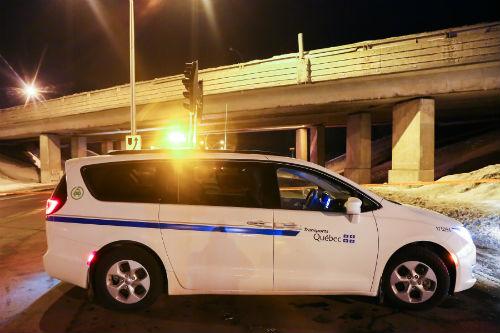 Le ministère des Transports était sur place peu après l'accident. Photothèque | Les 2 Rives ©