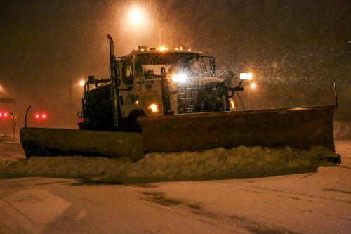 Près de 40 cm de neige est tombé sur Sorel-Tracy pendant la tempête et l'équipe du déneigement a dû parcourir plusieurs fois le territoire pour nettoyer les rues. Photo Pascal Cournoyer | Les 2 Rives ©