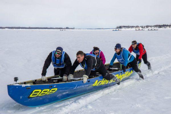 Course de canot à glace à Sorel-Tracy : l'équipe soreloise termine deuxième