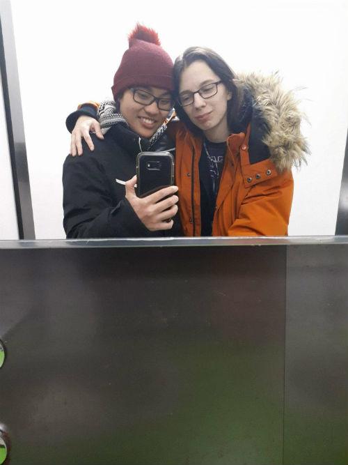 Li-Anne Archambault et Nathaniel Dupuis se sont rencontrés en 2017 et depuis, ils filent le parfait bonheur.  Photo gracieuseté
