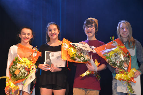 Les gagnants de la finale locale de Secondaire en spectacle de l'École secondaire Bernard-Gariépy. Photo Katy Desrosiers | Les 2 Rives ©