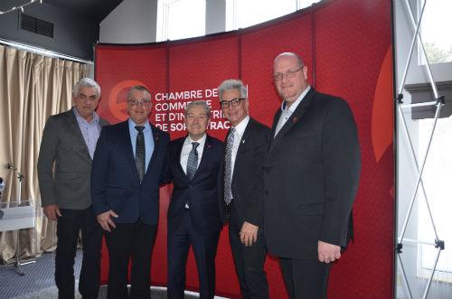 Le ministre François-Philippe Champagne était présent à Sorel-Tracy pour prononcer une conférence en collaboration avec la Chambre de commerce et d'industrie de Sorel-Tracy.  Photo Katy Desrosiers | Les 2 Rives ©