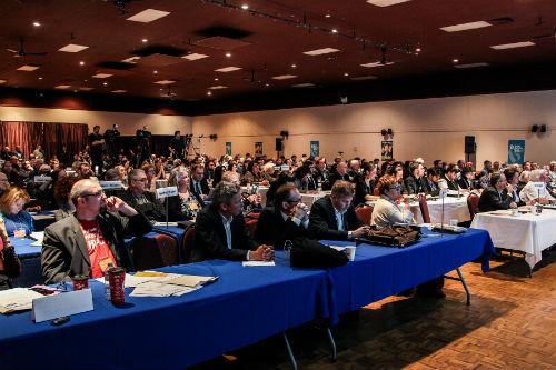 Près de 380 personnes s'étaient réunies à Sorel-Tracy pour le Congrès du Bloc québécois.  Photo Pascal Cournoyer | Les 2 Rives ©