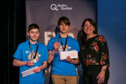 Mathieu Courchesne et Antoine Massé ont remporté la plus haute distinction de l'événement. Ils représenteront la Montérégie à la finale québécoise. Photo gracieuseté