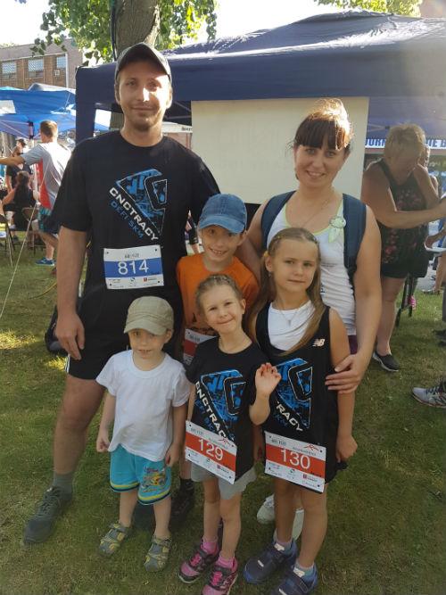Ihor Horbanov et sa famille tentaient de s'impliquer dans leur communauté, notamment en participant à la course du Festival de la gibelotte.  Photo gracieuseté