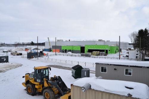 L'usine de la Fromagerie Bel est en construction depuis plusieurs mois. Photo gracieuseté