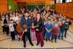 Antoine Lachance en visite à l'École Christ-Roi de Massueville
