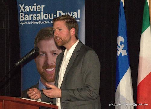 Xavier Barsalou-Duval, député de Pierre-Boucher – Les Patriotes – Verchères pour le Bloc Québécois.  Photo Pierre Nicolas