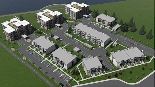 La prochaine phase de construction du projet comprendrait 27 logements, compris dans des triplex.  Photo gracieuseté