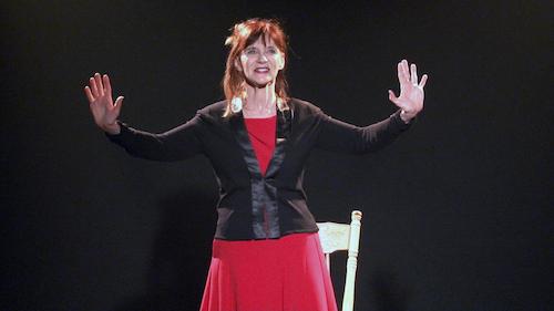 La comédienne soreloise Diane-Marie Racicot a effectué plus d'un an de recherche pour réaliser Le Sein mis à nu.  Photo gracieuseté