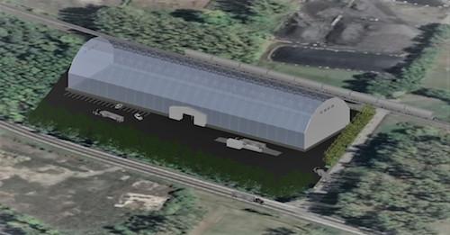 L'entrepôt construit devrait ressembler à celui illustré sur l'image.  Photo gracieuseté