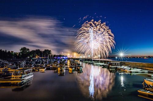 Les feux d'artifice seront présentés au quai Catherine-Legardeur de Sorel-Tracy vers 22 h. Photo Pascal Gagnon | Les 2 Rives ©