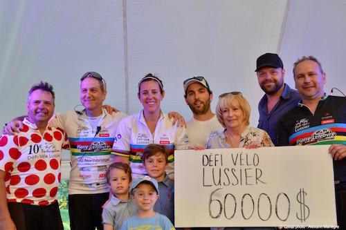 Une somme de 60 000 $ a été amassée, afin de soutenir des gens atteints de cancer.  Photo Alexann Manègre