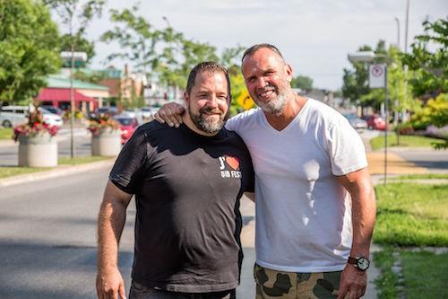 Dave Morissette a tourné à Sorel-Tracy le 13 juillet en compagnie de Kevin Arseneault. Photo gracieuseté/Steve Gauthier
