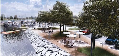 Le projet comprendra un quai pour les kayaks et les planches à pagaie.  Photo gracieuseté