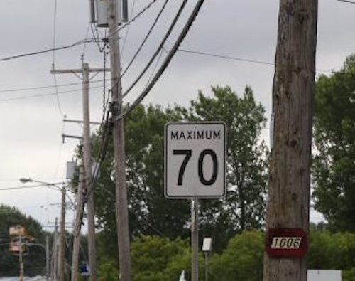 La vitesse maximale a été réduite à 70 km/h sur une portion de la route 132 à Contrecœur Photothèque | Les 2 Rives ©