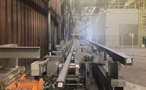 Les travaux pour le nouveau four de l'usine de Contrecœur-Ouest ont duré près de 18 mois.  Photo gracieuseté