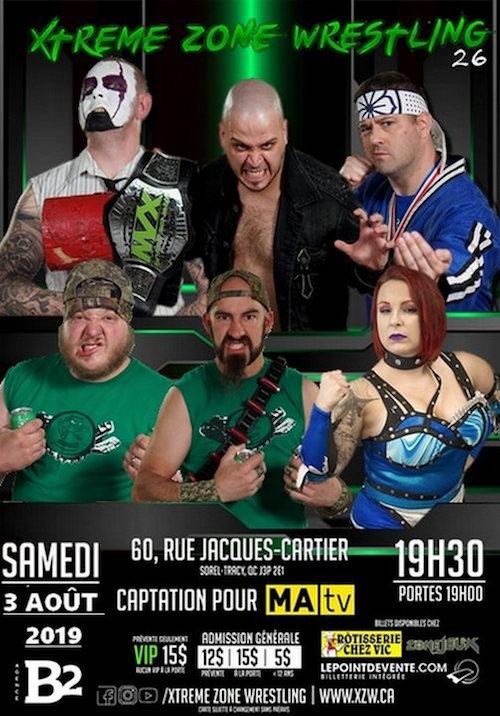 Le gala XZW 26 se tiendra à la salle des Chevaliers de Colomb sur la rue Jacques-Cartier à Sorel-Tracy. Photo gracieuseté