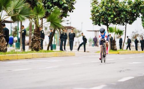 La cycliste Laurie Jussaume est rentrée des Jeux panaméricains avec deux médailles, une d'argent et une de bronze.  Photo Dave Holland