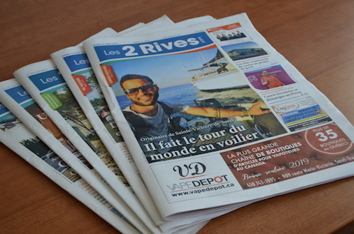 Le journal Les 2 Rives couvre Contrecœur et y est distribué.  Photo Katy Desrosiers | Les 2 Rives ©
