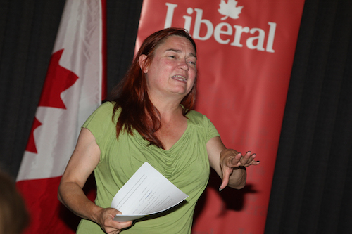 Nathalie Rochefort est officiellement la candidate pour le Parti libéral du Canada dans Bécancour – Nicolet – Saurel.  Photo Pascal Cournoyer | Les 2 Rives ©