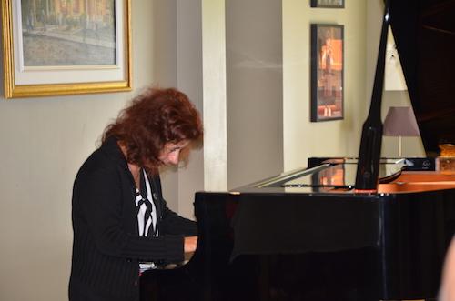 La pianiste Lorraine Desmarais lors du lancement de la programmation 2019-2020.  Photo Katy Desrosiers | Les 2 Rives ©