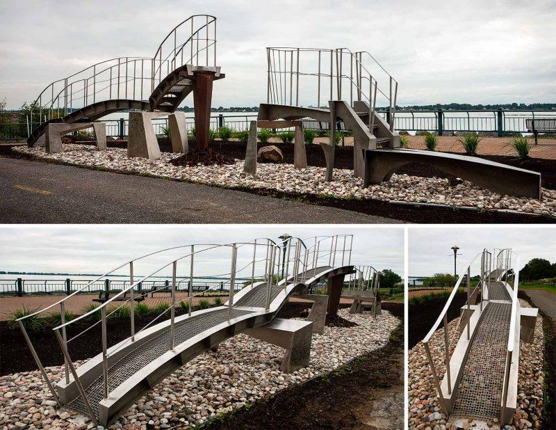 Passerelle et Portance de Claude Millette au Parc Regard-sur-le-fleuve | Photothèque