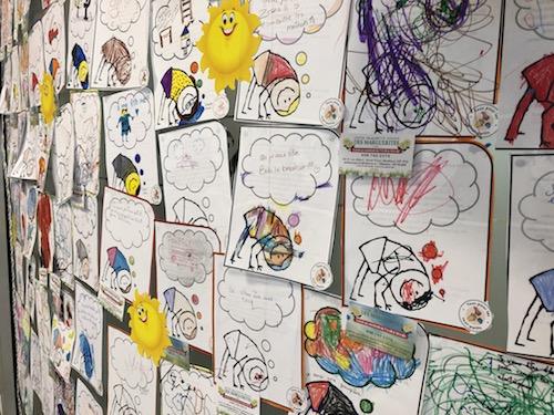 Près de 500 enfants ont collaboré à ce projet. Photo gracieuseté