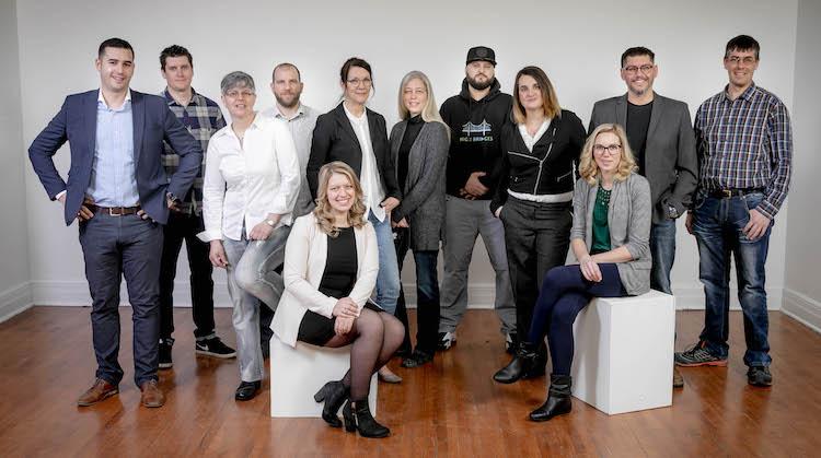 Les entrepreneurs du volet création de la 21e édition. Photo gracieuseté