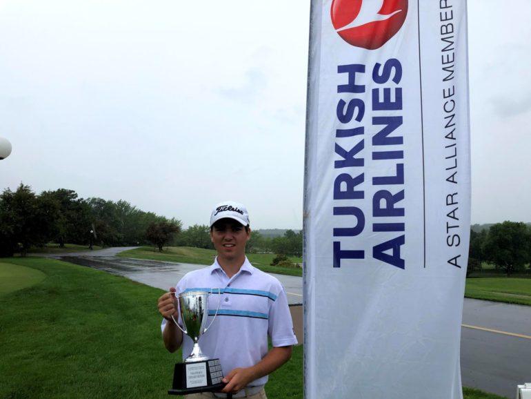 Jérémy Godin était classé 24e au Québec avant la tenue du championnat provincial junior par trous.  Photo gracieuseté – Golf Québec