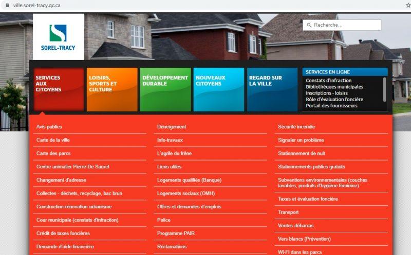 Le site actuel avait été mis en ligne en juillet 2013.  Photo capture d'écran