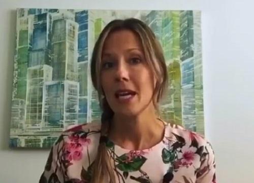 La directrice de la Santé publique en Montérégie, Dre Julie Loslier, a fait le point sur la pandémie avec les médias, le 29 septembre. Photo capture d'écran
