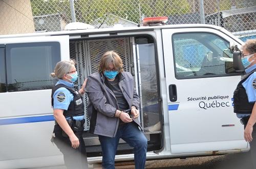 Loïc René, lors de son arrivée au pPalais de justice de Sorel-Tracy, le 16 septembre. Photo Jean-Philippe Morin | Les 2 Rives ©