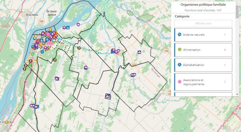 La carte des ressources est accessible au mrcpierredesaurel.com/cartographie. Photo capture d'écran