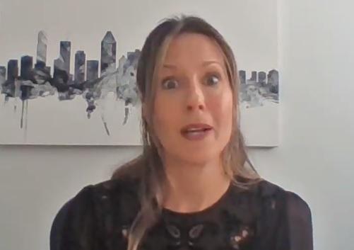Dre Julie Loslier est préoccupée par l'augmentation des taux d'infection en Montérégie. Photo capture d'écran