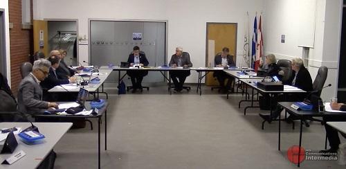 Les maires de la MRC de Pierre-De Saurel se sont réunis à huis clos le 14 octobre dernier pour leur séance mensuelle. Photo capture d'écran/YouTube