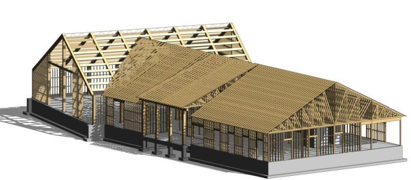 La construction se fera par le Groupe Drumco selon une structure en bois. Photo gracieuseté