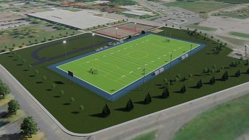 Le terrain à surface synthétique sera être mis en chantier en 2021. Photo gracieuseté