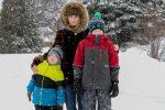 Hanna Horbanova et ses deux garçons ont reçu un permis de séjour temporaire