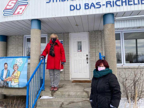Les enseignants et leur syndicat donnent 1515 $ à la Maison L'Ancrage