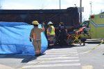 Collision avec un poids lourd : un cycliste perd la vie